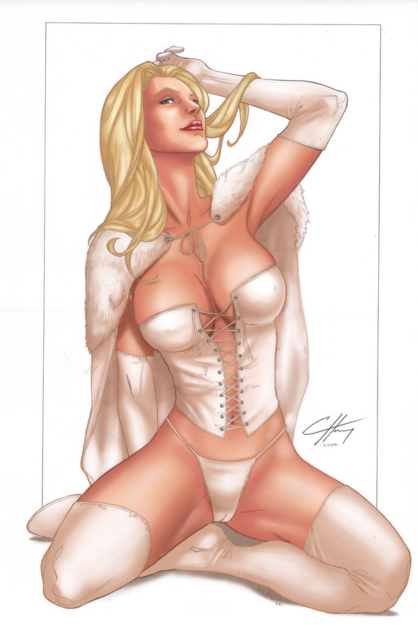 Marvel gallery pvc statue white queen sexy emma frost exclusive