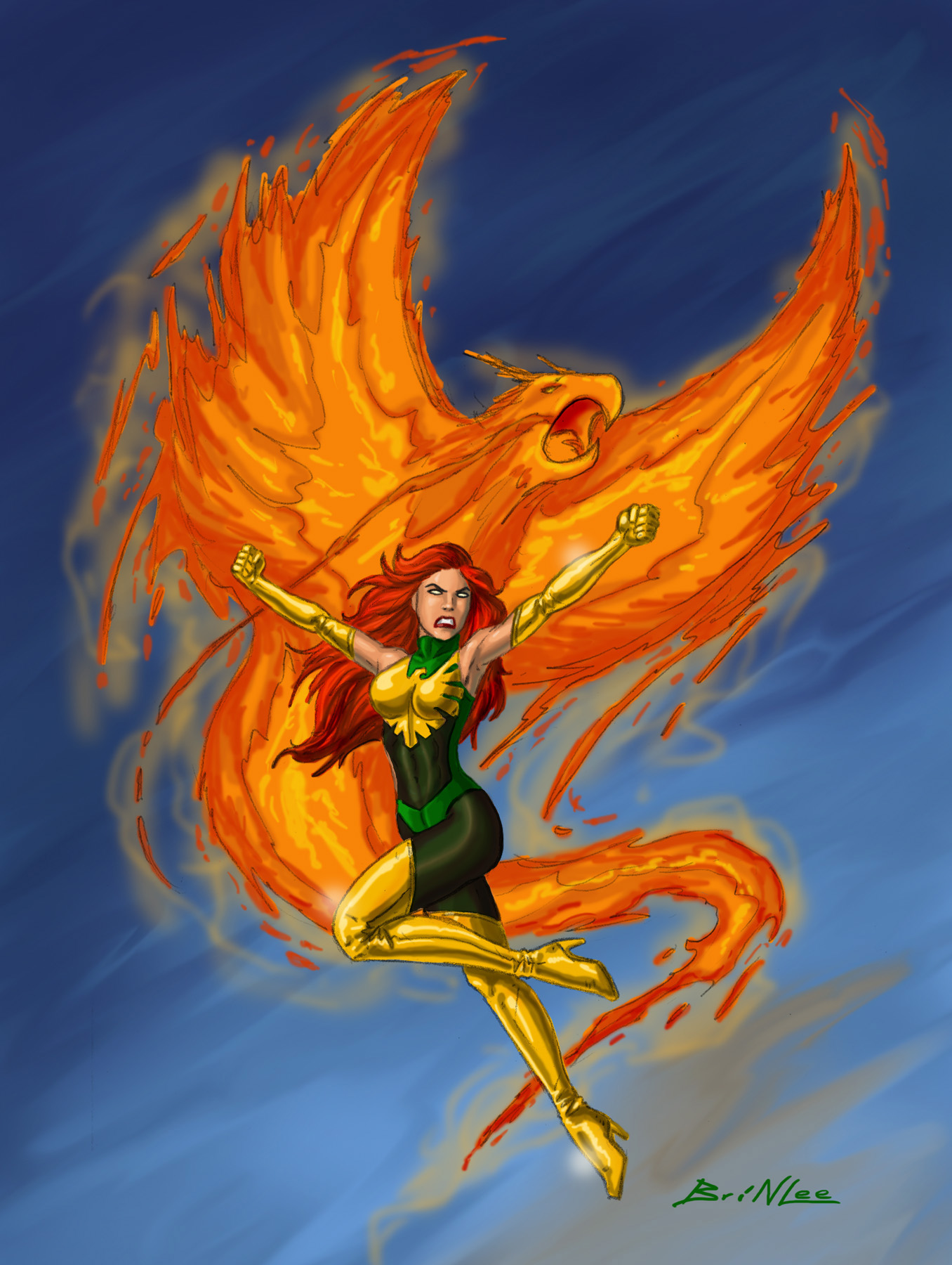 Jean Grey - Phoenix Force Scan 2