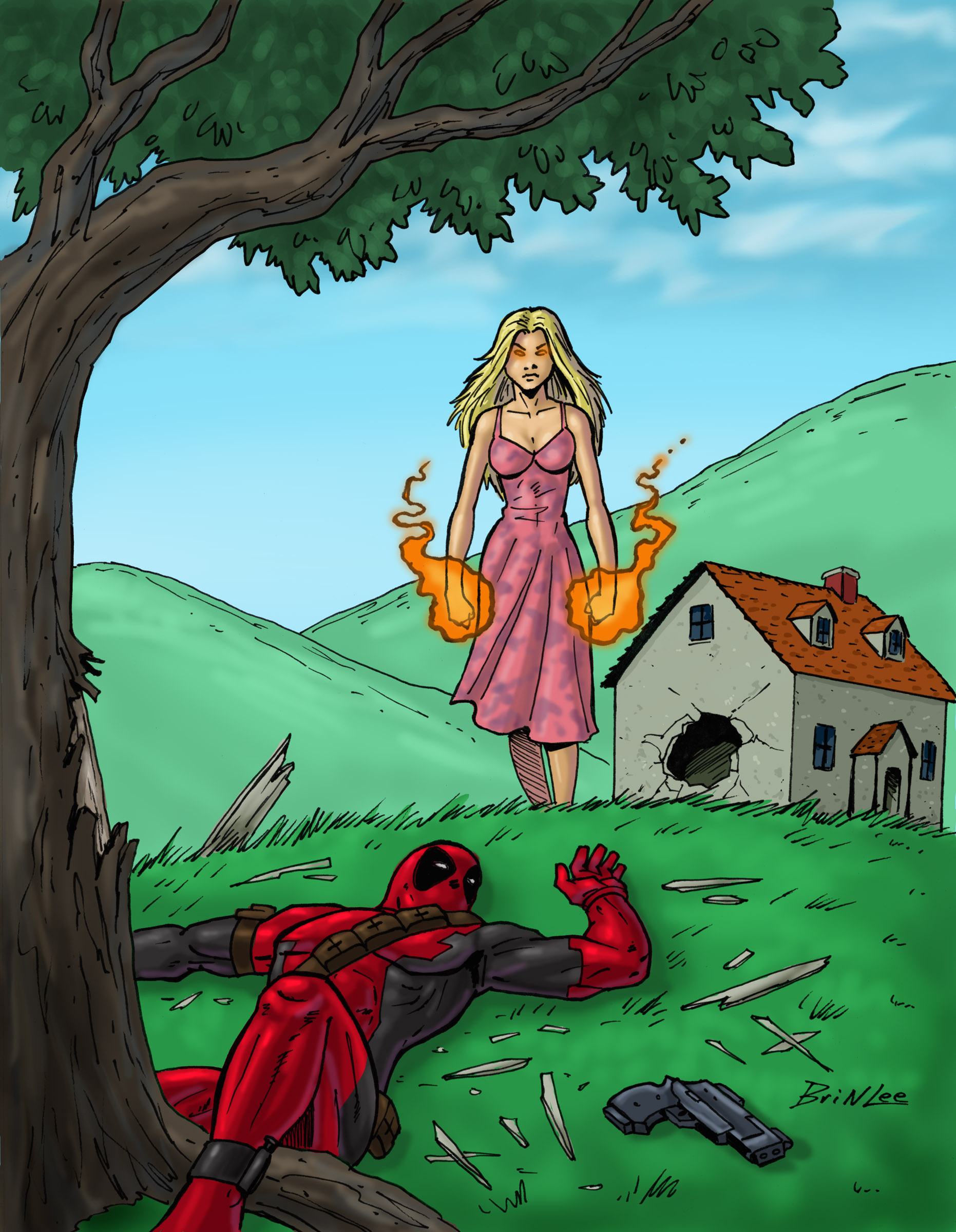 X-men Supreme Issue 36: Deadpool Part 1 Panel 1