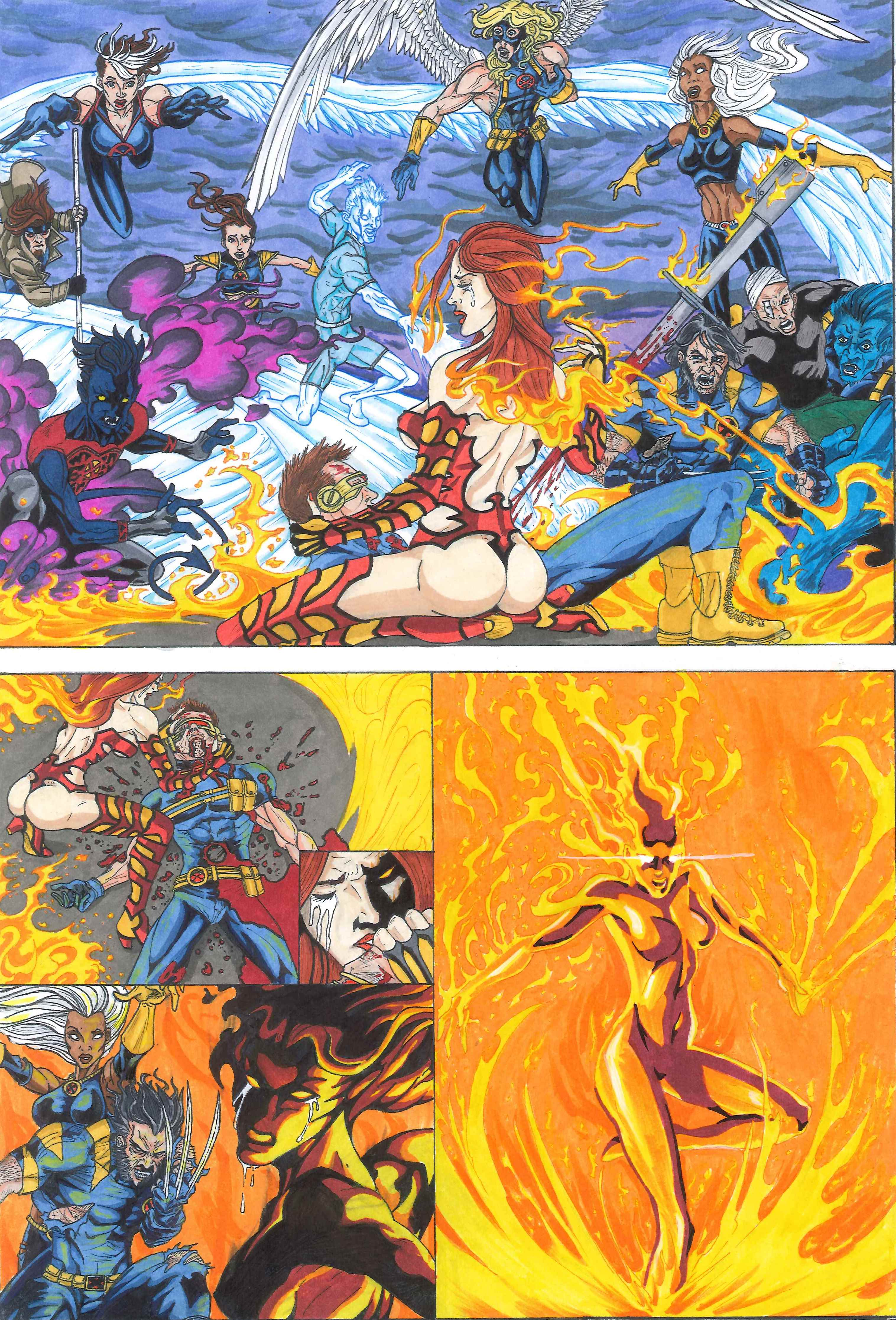 X-men Supreme Issue 68: The Phoenix Saga Part 1 Panel 3